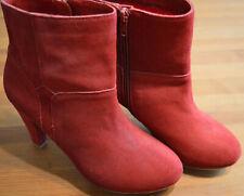 H&M Damen Stiefelette Rot NEU NP 99.90€