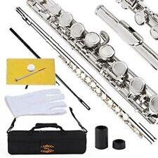 Glory C Closed Hole Flute Set, Nickel Silver