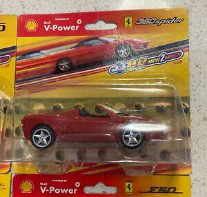 Set of 6 x 2006 Hot Wheels Shell V-Power Ferrari Pull Back 1:38