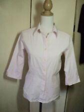 laura ashley  pale prink stretch cotton shirt 10