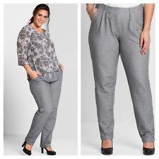 Sheego @ Curvissa Plus Size 22 Grey Casual Slim Fit Stretch TROUSERS £65 Fab