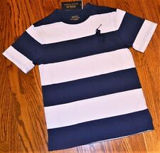 Polo Ralph Lauren Blue and White Striped T-shirt Boys Size S 8