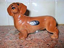 Vintage Coopercraft Made in England Dachshund Dog Figurine w Sticker