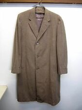 vtg Joseph & Feiss Clothcraft Overcoat Trench beige Worumbo wool sz L USA made
