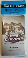 ✅⚾️🔥2020 Topps Update Chrome Value Cello Packs