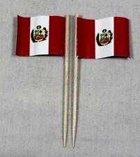 Party-Picker Peru 50 Stk. Dekopicker Profiqualität Papierfähnchen Flagge Food