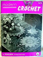 Booklet - MODERN CROCHET - Luncheon Set.Coffee Mat,Edgings.Gloves.Coverlet etc