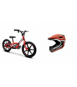 """Amped A16 16"""" Kids Electric Balance Bike Combo Red With Revvi Helmet"""