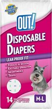 OUT! Disposable Female DogDiapers Ultra-Absorbent Leak-Proof Disposable M/L 14ct