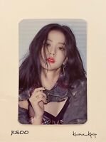 [JISOO] BLACKPINK [THE ALBUM] PRE-ORDER OFFICIAL PHOTO CARD NEW GENUINE @YG