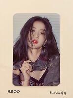 JISOO BLACKPINK [THE ALBUM] 1ST FULL ALBUM PREORDER BENEFITS OFFICIAL PHOTO CARD