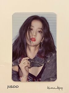 JISOO BLACKPINK [THE ALBUM] 1ST FULL ALBUM PREORDER BENEFITS OFFICIAL PHOTO CARD