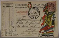 POSTA MILITARE 97 FRANCHIGIA 13° REPARTO D'ASSALTO ARDITI  1.6.1918 #XP443B