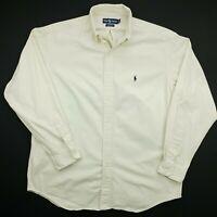 Polo Ralph Lauren Mens Vintage Shirt THICK Oxford XL Long Sleeve White Classic