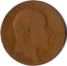 1909 HALF PENNY OF EDWARD VII. / COLLECTIBLE COIN    #WT2582