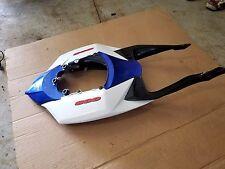 08 09 Suzuki GSXR 600 750 Rear Tail Fairing Back Cover OEM Blue White Lights