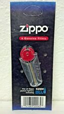 ZIPPO, LIGHTER, 6 GENUIE FLINTS, FITS ALL ZIPPO POCKET LIGHTERS & ZIPPO BLU