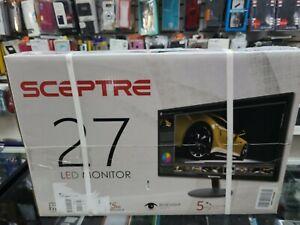 """SCEPTRE E275W-19203R 27"""" 16:9 Widescreen Monitor - Metallic Black"""
