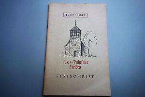 Festschrift Heldra 700 Jahrfeier 1947 Wanfried Werra-Meißner-Kreis Hessen