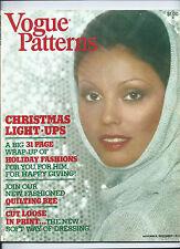 Vogue Patterns 1974 Nov/Dec Magazine Catalog Dior Muir Lanvin Ungaro 70's sewing