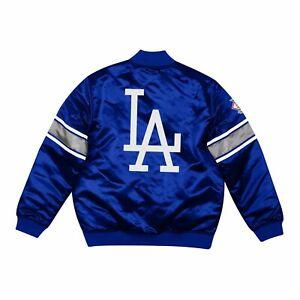 Mitchell Ness LA ANGELES DODGERS Heavyweight Satin Full Zipper ROYAL BLUE Jacket