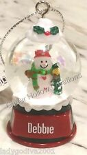 Personalized Snow Globe Ornament - Debbie - FREE Shipping