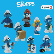 Schleich * Smurf Set of 8 * - New with Tag - Smurfette - Papa - Smurfs Lot