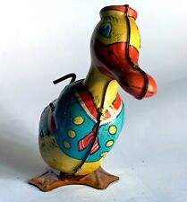 1930's J. Chein Walking Duck Windup Tin Toy