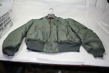 Old flight jacket XL Green Orange clothing Army Air Force Marines Navy EPS23091