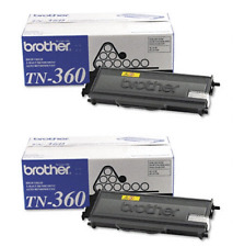GENUINE OEM BROTHER TN360 TN-360 BLACK TONER SET 2-PACK