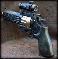 Steampunk cyber gothic gun revolver pistol Victorian laser LIGHT pirate Toy MC04