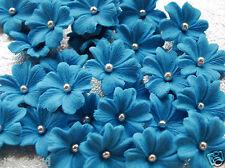 ROYAL BLUE blossoms sugar cake cupcake topper edible large flower sugarpaste