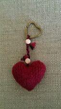 Llavero Corazón tejido