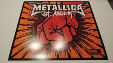 Rare Original Vintage 2003 ~ METALLICA ~ ST. ANGER Promo Album Flat Poster  P855