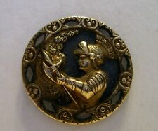 Large Antique Button Brandon with Armour and Weapon