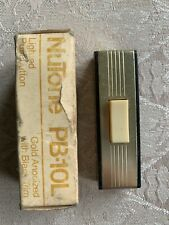 Vintage NuTone Lighted Pushbutton PB-10L Gold with Black trim wired lighted