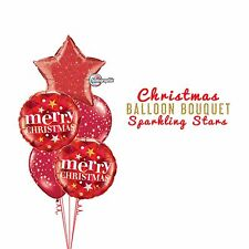 Party Supplies Christmas Holographic Sparkling Stars  Foil Balloons Bouquet