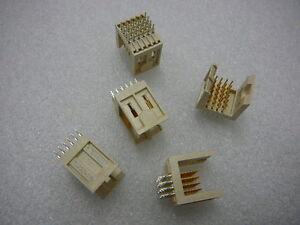 FCI 70232-115 METRAL HEADER 4-Row 24 POS 2mm Press-Fit GOLD *NEW* Qty.5