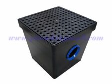 Storm Drain - Two Hole Catch Basin with Black Grate - 2HDS-4 - 16 x 16 x 14