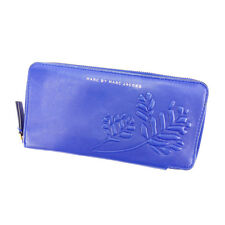 Marc By Marc Jacobs Wallet Purse Long Wallet Blue Gold Woman Authentic Used S012