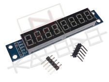 Eight digit serial (SPI) seven segment LED display (Yellow o Red) MAX7219 for Ar