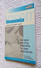 INSOMNIA: HOW TO SLEEP EASY, BY DR LEON LACK AND OTHERS, LIKE NEW, FREE POST