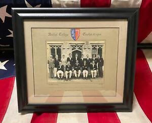 Vintage 1955 Balliol College Cricket Team Photograph Oxford Univ.England Framed