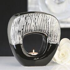 Casablanca Aromabrenner Grande schwarz Keramik Duftlampe Aromalampe Teelicht
