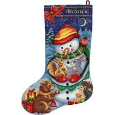Counted Cross Stitch Kit PANNA PR-7165 - Snowman Stocking
