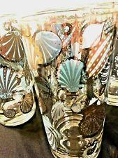 Georges Briard Signed Vintage Seascape Glassware