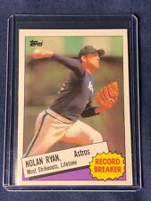NOLAN RYAN 1985 Topps Record Breaker Baseball Card # 7 Houston Astros   MINT