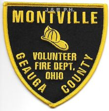 "Montville Fire Dept. / Geauga County, Ohio  (4"" x 4"" size)  fire patch"