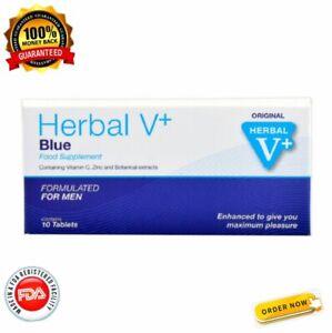 HERBAL V + BLUE Tablets For Men - Stamina, Performance, Energy and Endurance