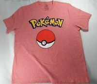 Pokemon Big Pokeball Logo Men's XL Short Sleeve T Shirt New